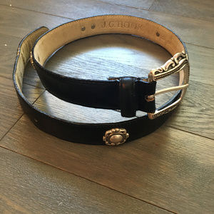 J.G. Hook Genuine Leather Black Belt